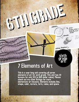 Seven Elements of Art Grade Six- 20 lessons