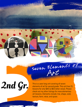 Seven Elements of Art Grade Two- 21 lessons