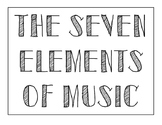 Seven Elements of Music (Bulletin Board)