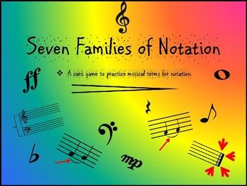 Seven Families- Notation