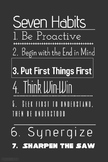 Seven Habits Leader In Me Poster