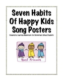 Seven Habits of Happy Kids Song Posters