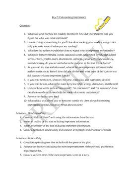 Seven Keys to Comprehension