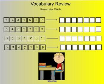 Seven Letter word scramble