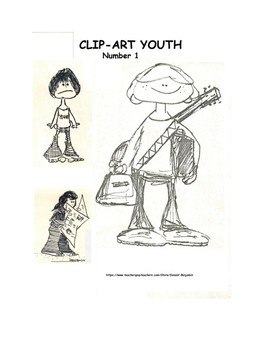 Seven Pages of Unique Youth Clip-Art