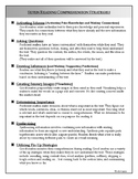 Seven Reading Comprehension Strategies and Ideas for Lit. Response