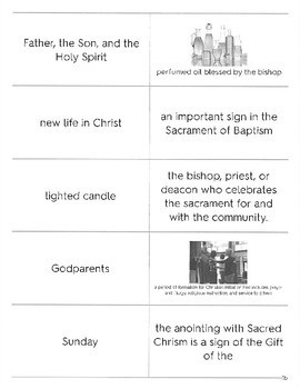 Seven Sacraments Flashcard Set