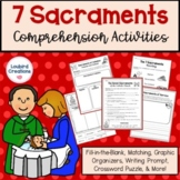 Seven Sacraments of the Catholic Church Comprehension Activities