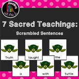 8 Seven Sacred Grandfathers Teachings Scrambled Sentences PLUS Recording Pages