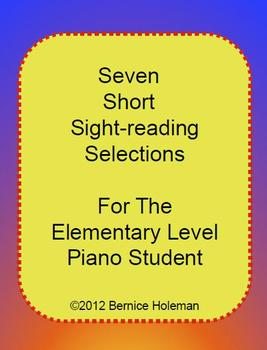Seven Short Sight-reading Selections For The Elementary Piano Student