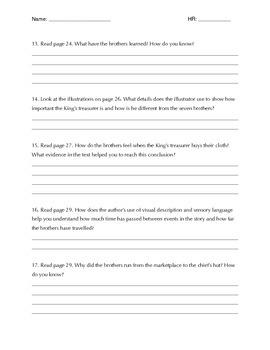 Seven Spools of Thread Comprehension Questions