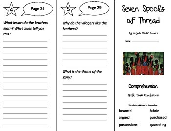 Seven Spools of Thread Trifold - Treasures 3rd Grade Unit