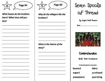 Seven Spools of Thread Trifold - Treasures 3rd Grade Unit 4 Week 2 (2009)