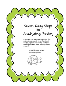 Seven Steps to Analyzing a Poem