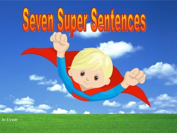 Seven Super Sentences Wall Display