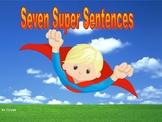 Seven Super Sentences Wall Display