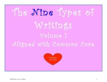 The NINE Types of Writings Vol 1