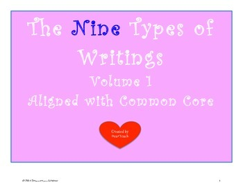 The NINE Types of Writings Vol 1