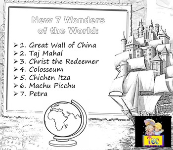 Seven Wonders of the World Booklet