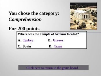 Seven Wonders of The World Jeopardy