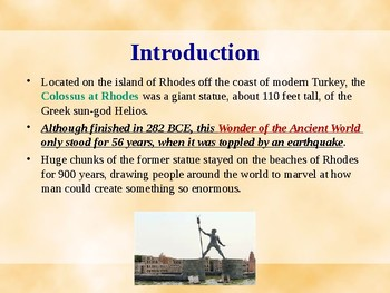 Seven Wonders of the Ancient World - The Colossus of Rhodes