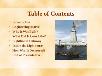 Seven Wonders of the Ancient World - The Lighthouse of Alexandria