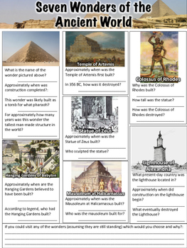 Essay on 7 wonders of the world