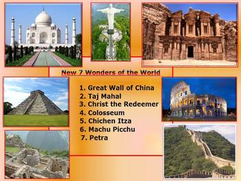 Seven Wonders of the  Ancient  World - New 7 Wonders - Interactive