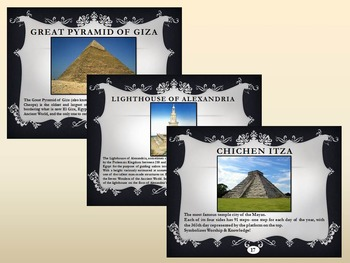 Seven Wonders of the  Ancient World and New 7 Wonders