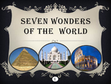 Seven Wonders of the  Ancient World and New 7 Wonders distance learning