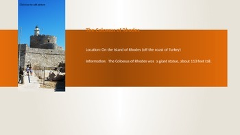 Seven Wonders of the World Powerpoint
