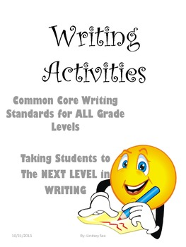 Seven Writing Activities that focus on Ideas, Style, and Organization