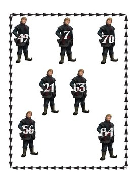 Sevens Multiplication Game: Kristoff and Sven (Frozen)