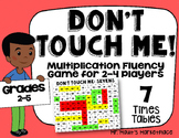 Sevens Times Tables: Don't Touch Me! Multiplication Fact Fluency Game