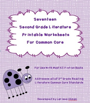 Seventeen Second Grade Literature Printable Worksheets for Common Core