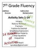 Seventh (7th) Grade Math Fluency Packets 1-14