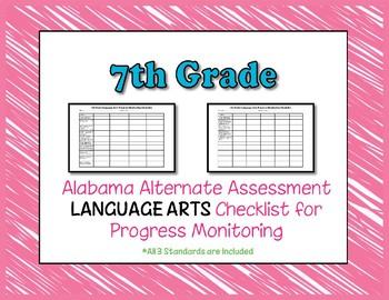 Seventh Grade AAA Language Arts Checklist Progress Monitoring