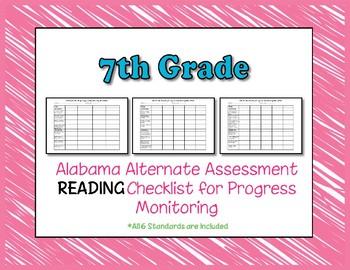 Seventh Grade AAA Reading Checklist Progress Monitoring