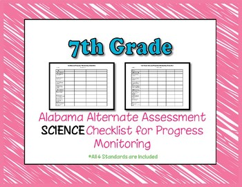 Seventh Grade AAA Science Checklist Progress Monitoring