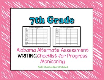 Seventh Grade AAA Writing Checklist Progress Monitoring