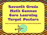 Seventh Grade Common Core Math Learning Target Posters