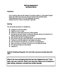 Seventh Grade Common Core Narrative Writing Assessment Prompt
