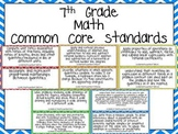 Seventh Grade Common Core Standards- Math Posters