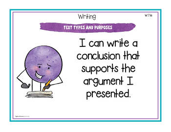 """Seventh Grade ELA Common Core Standards """"I Can"""" Posters"""
