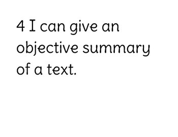 Seventh Grade ELA I Can Statements (Numbered)