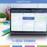 Seventh Grade Grammar Bundle: Sentence Structure, Phrases, Clauses