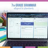 Seventh Grade Grammar Bundle: Sentence Structure, Phrases,