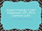 "Seventh Grade ""I Can"" Statements LAFS & Common Core Reading"