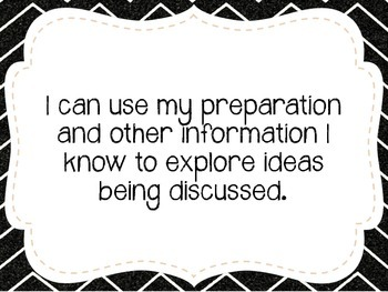 """Seventh Grade """"I Can"""" Statements LAFS & Common Core Speaking & Listening"""