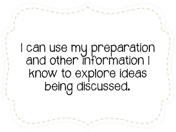 """Seventh Grade """"I Can"""" Statements LAFS & Common Core Speaking & Listening Plain"""